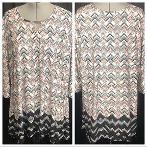 Avenue Women's Plus Sized 3/4 Sleeve Sheath Dress